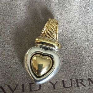 David Yurman heart gold and silver pendant